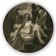 The Murder Of The Two Princes Round Beach Towel by James Northcote