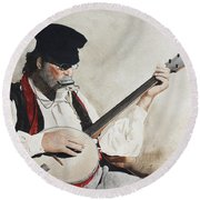 The Music Man Round Beach Towel
