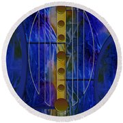 The Musical Abstraction Round Beach Towel