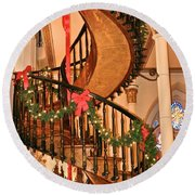 The Mysterious Miracle Staircase Round Beach Towel