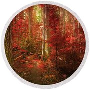 The Mystic Forest Round Beach Towel