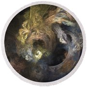 The Mystical Garden - Abstract Art Round Beach Towel