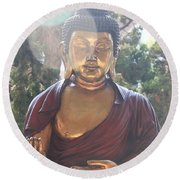 The Mystical Golden Buddha Round Beach Towel