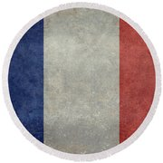 The National Flag Of France Round Beach Towel