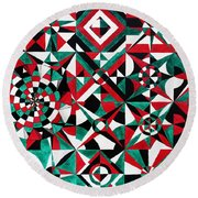 The Nature Of Shapes Prakriti Round Beach Towel