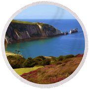 The Needles Round Beach Towel