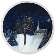The Night Before Christmas Round Beach Towel