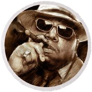 The Notorious B.i.g. Round Beach Towel