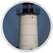 Round Beach Towel featuring the photograph Lighthouse by Eunice Miller