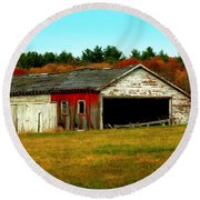 Round Beach Towel featuring the photograph The Old Barn by Bruce Carpenter