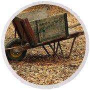 The Old Barn Wagon Round Beach Towel