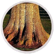 The Old English Oak Tree Round Beach Towel