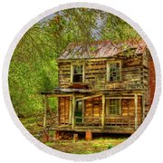 The Old Home Place Round Beach Towel by Dan Stone