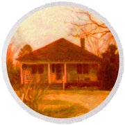 The Old Home Place Round Beach Towel
