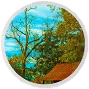 The Old Homestead 2 Round Beach Towel