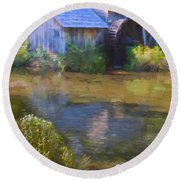 The Old Mill At Mabry Round Beach Towel