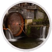 The Old Mill Detail Round Beach Towel