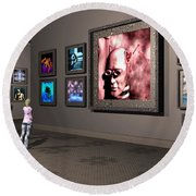 Round Beach Towel featuring the digital art The Old Museum by John Alexander