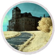 The Old Odd Fellows Home Color Round Beach Towel
