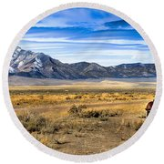 The Old One Round Beach Towel by Robert Bales