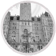 The Old Post Office  Round Beach Towel