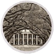 The Old South Sepia Round Beach Towel