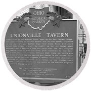 The Old Tavern II Round Beach Towel