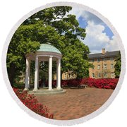 The Old Well At Chapel Hill Campus Round Beach Towel