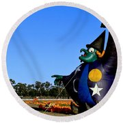 Round Beach Towel featuring the photograph The Old Witch by Michael Gordon