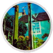 Round Beach Towel featuring the photograph The Open Window by Chris Lord