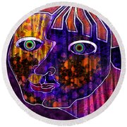 The Other Cheek Round Beach Towel