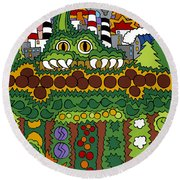 The Other Side Of The Garden  Round Beach Towel by Rojax Art