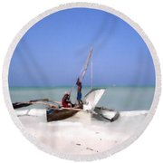 The Outrigger Round Beach Towel