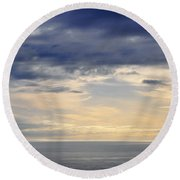 Round Beach Towel featuring the photograph The Pacific Coast by Kyle Hanson