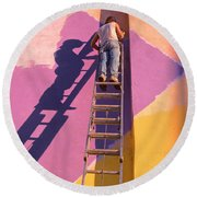 The Painter Round Beach Towel