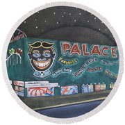 The Palace At Night Round Beach Towel