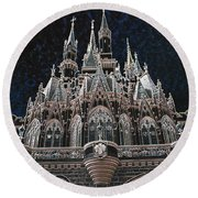 Round Beach Towel featuring the photograph The Palace by Robert Meanor