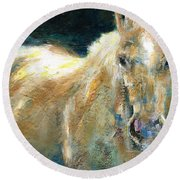 The Palomino Round Beach Towel