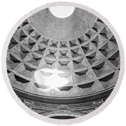 The Pantheon - Rome - Italy Round Beach Towel by Luciano Mortula