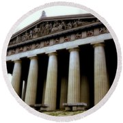 The Parthenon Nashville Tn Round Beach Towel