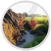 The Path Round Beach Towel by Shawn Marlow