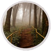 The Pathway Round Beach Towel