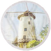 The Penny Royal Windmill Round Beach Towel