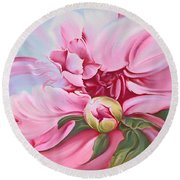 The Peony Round Beach Towel
