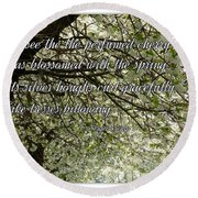The Perfumed Cherry Tree 1 Round Beach Towel