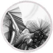 The Pianist Round Beach Towel