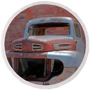 Round Beach Towel featuring the photograph The Pick Up by Lynn Sprowl
