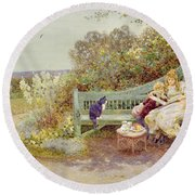 The Picture Book Round Beach Towel