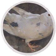 The Pigeon Round Beach Towel