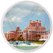The Pink Palace Round Beach Towel